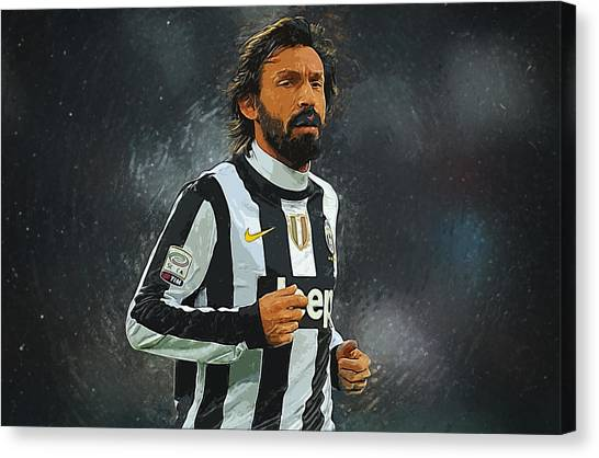 Mls Canvas Print - Andrea Pirlo by Semih Yurdabak