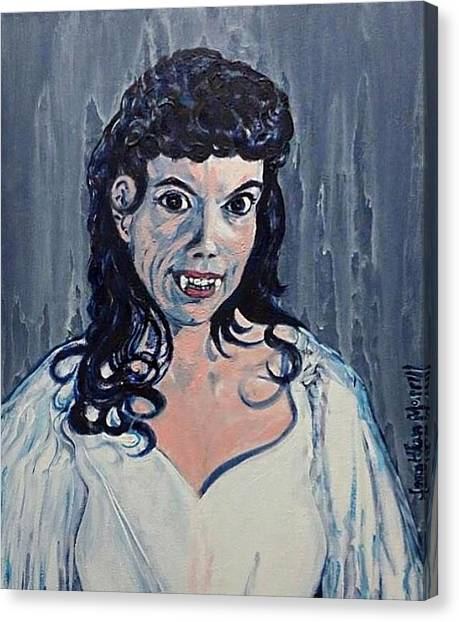 Andree Melly As Gina In The Brides Of Dracula  Canvas Print