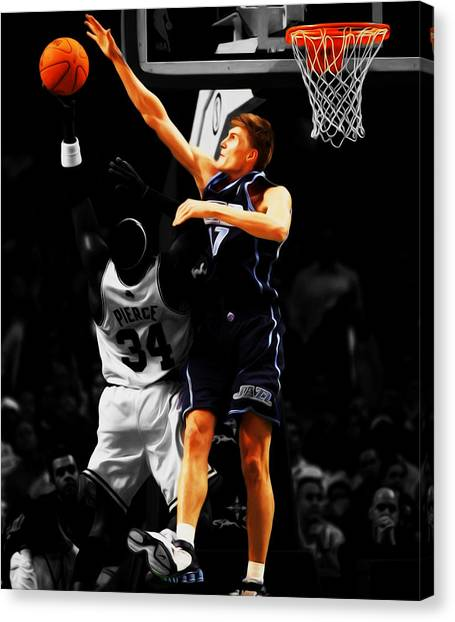 Utah Jazz Canvas Print - Andrei Kirilenko by Brian Reaves