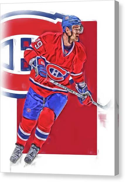 Montreal Canadiens Canvas Print - Andrei Markov Montreal Canadiens Oil Art by Joe Hamilton