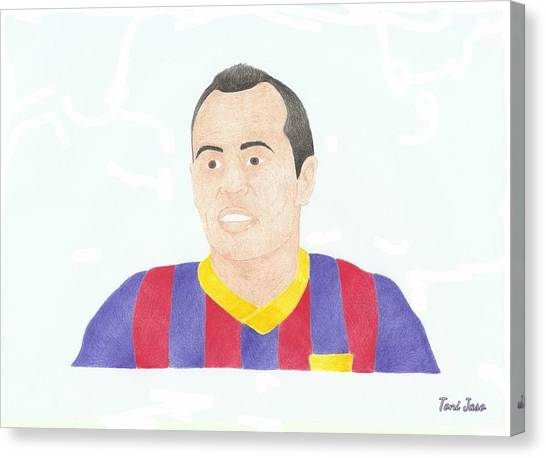 Andres Iniesta Canvas Print - Andres Iniesta by Toni Jaso