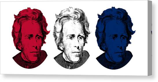 U. S. Presidents Canvas Print - Andrew Jackson Red White And Blue by War Is Hell Store