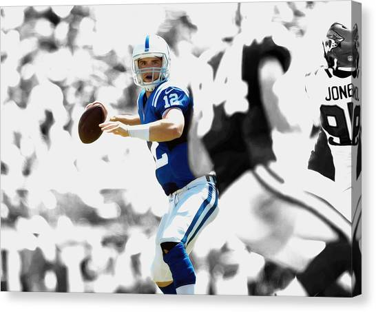 Ben Roethlisberger Canvas Print - Andrew Luck by Brian Reaves