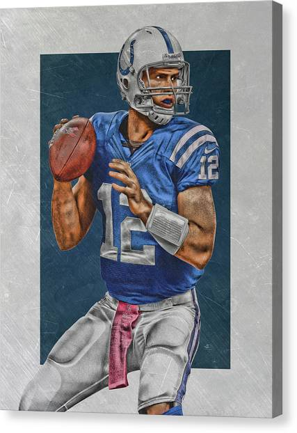 Indianapolis Colts Canvas Print - Andrew Luck Indianapolis Colts Art by Joe Hamilton