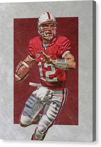 Stanford University Canvas Print - Andrew Luck Stanford Cardinals Art by Joe Hamilton