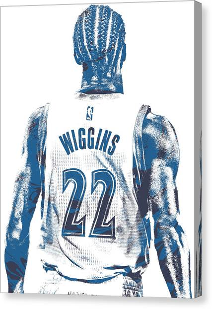 Minnesota Timberwolves Canvas Print - Andrew Wiggins Minnesota Timberwolves Pixel Art 11 by Joe Hamilton
