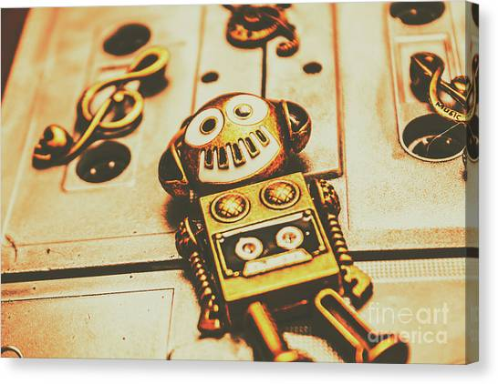 Headphones Canvas Print - Android Rave by Jorgo Photography - Wall Art Gallery