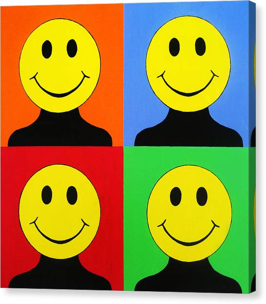 Warhol Canvas Print - Andy Called It Acieed by Oliver Johnston
