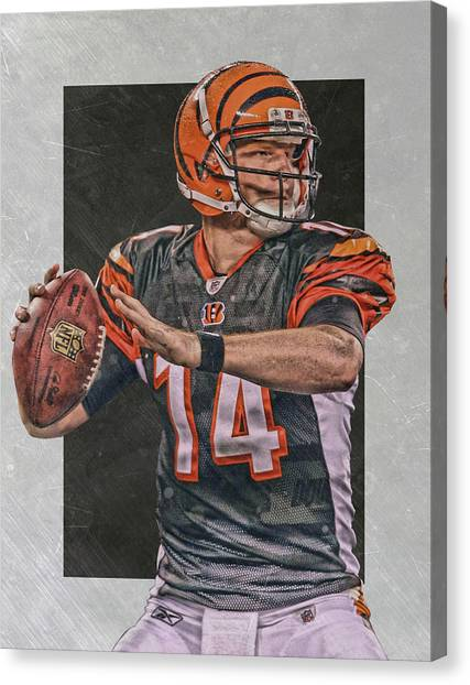 Cincinnati Bengals Canvas Print - Andy Dalton Cincinnati Bengals Art by Joe Hamilton