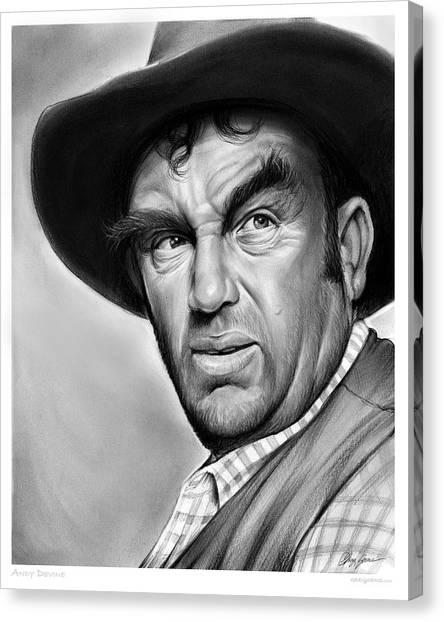Cowboy Canvas Print - Andy Devine by Greg Joens