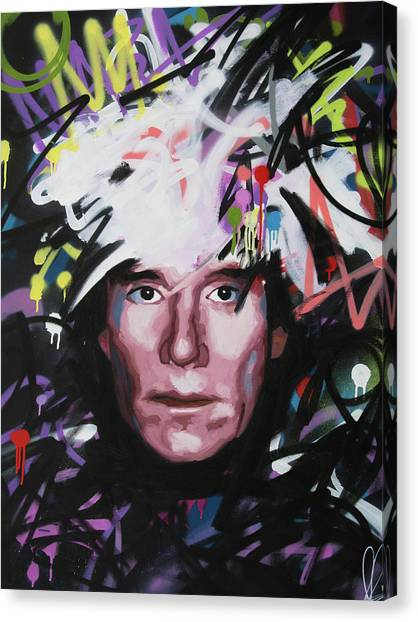 Andy Warhol Canvas Print - Andy Warhol by Richard Day