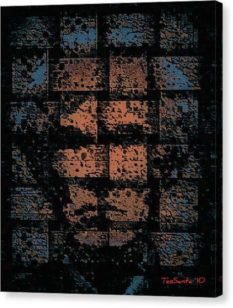 Andy Warhol Weave   Series   Canvas Print by Teodoro De La Santa