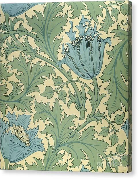 Pre-raphaelite Art Canvas Print - Anemone Design by William Morris