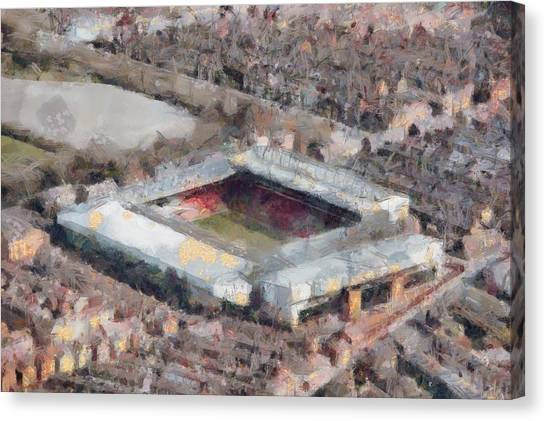 Liverpool Fc Canvas Print - Anfield by Alexander Mandelstamtwo