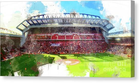 Liverpool Fc Canvas Print - Anfield Stadium by J Biggadike