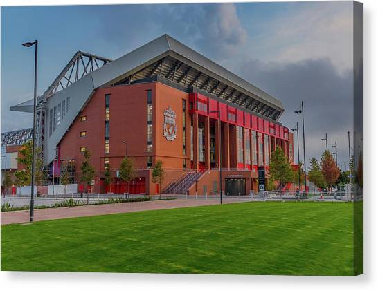 Liverpool Fc Canvas Print - Anfield - The New Main Stand by Paul Madden