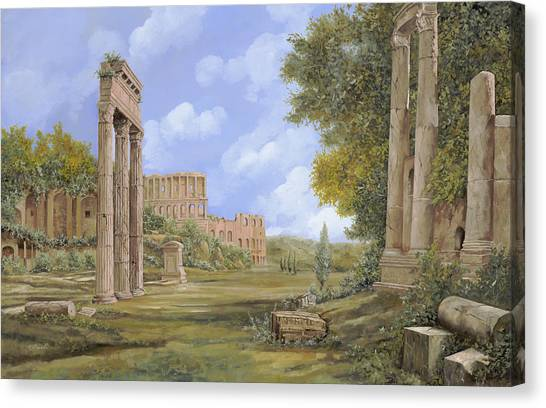 Ancient Art Canvas Print - Anfiteatro Romano by Guido Borelli