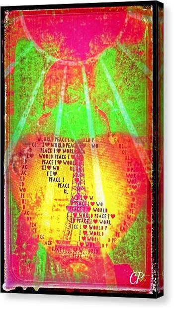 Ange De Paix Mondiale Canvas Print