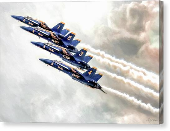 New York Jets Canvas Print - Angel Ascent by Peter Chilelli
