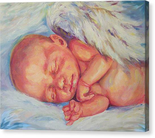 Angel Baby Canvas Print by Peggy Wilson