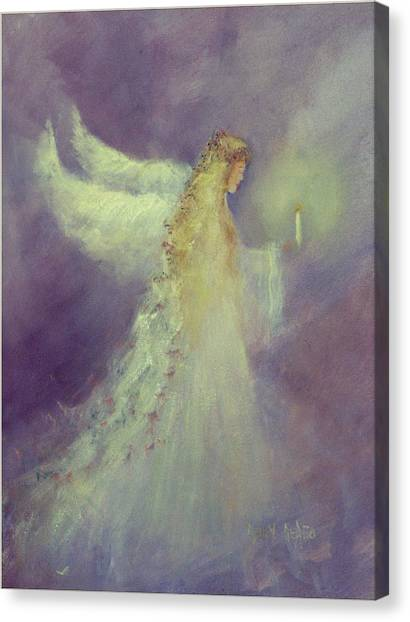 Angel Bright Canvas Print by Sally Seago