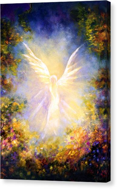 Marinas Canvas Print - Angel Descending by Marina Petro