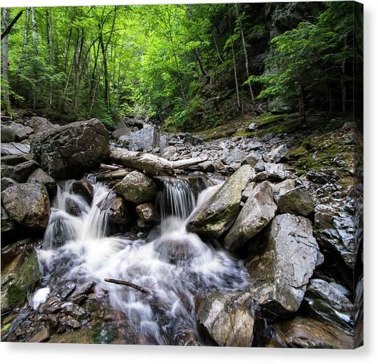 Angel Falls Canvas Print - Angel Falls Rangeley Me Waterfall Trees by Toby McGuire