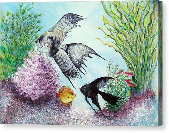 Angel Fish Canvas Print by JoLyn Holladay