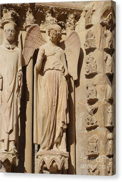 Angel In Reims Canvas Print