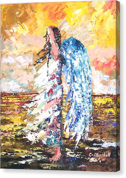 Angel In The Wind Canvas Print by Claude Marshall