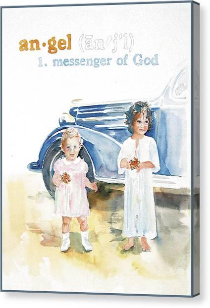 Angel Canvas Print by Janice Crow