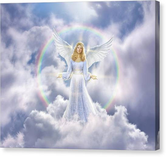 Heaven Canvas Print - Angel by Jerry LoFaro