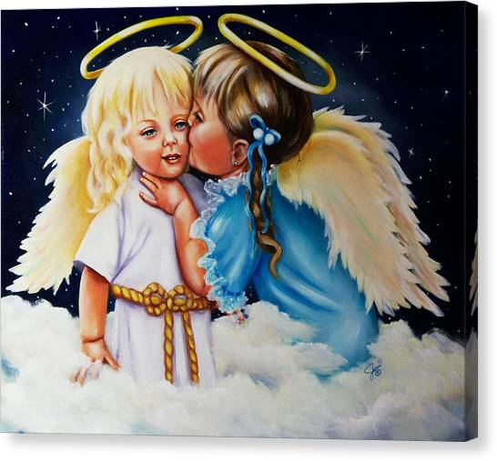 Angel Kiss Canvas Print