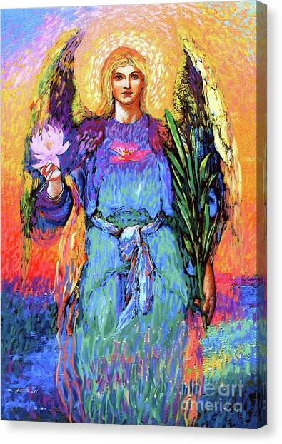 Sacred Canvas Print - Angel Love by Jane Small