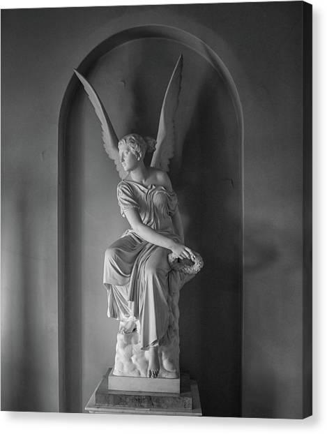 Immigration Canvas Print - Angel by Martin Newman
