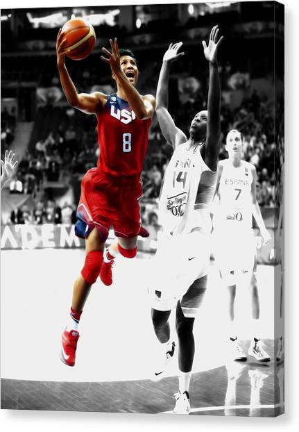 University Of Louisville Canvas Print - Angel Mccoughtry by Brian Reaves