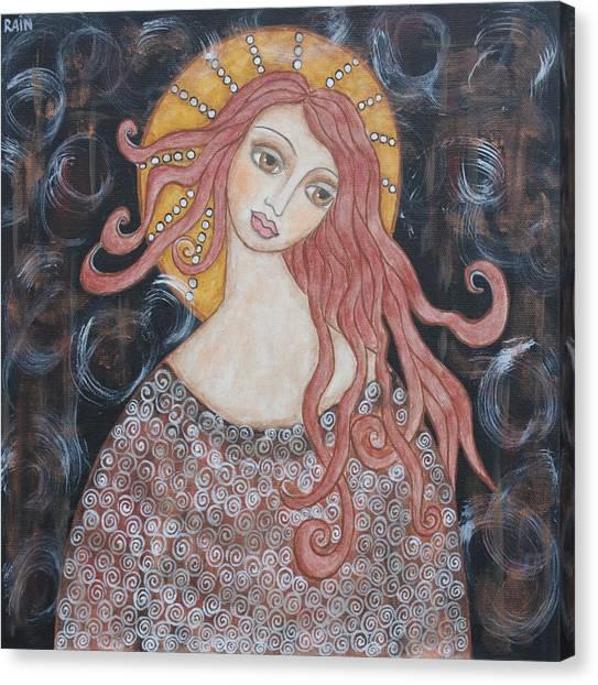 Angel Of Grace Canvas Print by Rain Ririn
