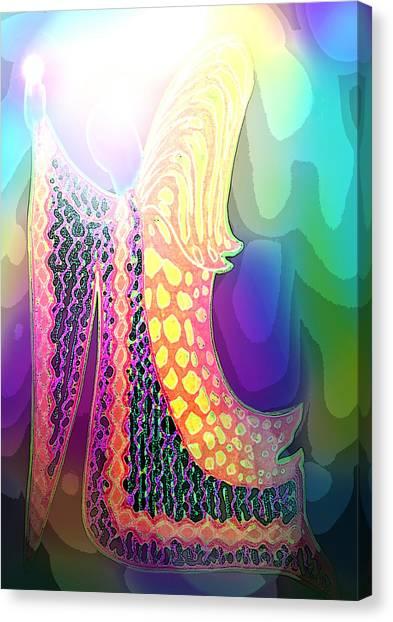 Angel Of Gratitude Canvas Print by Mairin Gilmartin