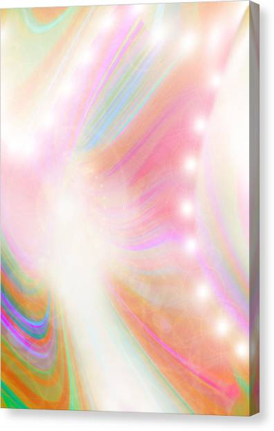 Angel Of Light And Colour Canvas Print by Mairin Gilmartin