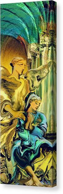Angel Of Mercy Canvas Print by Anne Weirich