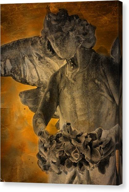 Head Canvas Print - Angel Of Mercy by Larry Marshall