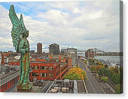 Angel Of Old Montreal Canvas Print