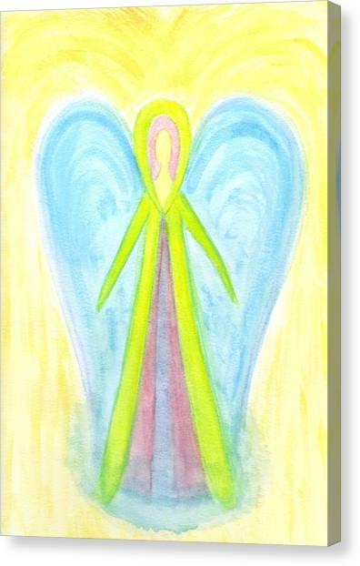 Angel Of Protection Canvas Print by Konstadina Sadoriniou - Adhen