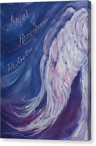 Angel Of Remembrance Canvas Print