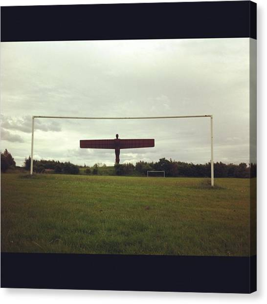 Keeper Canvas Print - Angel Of The North As Goalie. #football by Alan DArcy