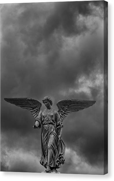 Angel Statue Bethesda Fountain Central Park 2 Canvas Print