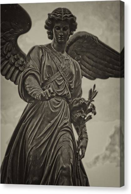 Angel Statue Bethesda Fountain Central Park Canvas Print