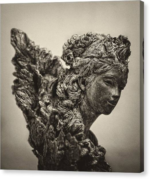Angel Statue Canvas Print by Robert Ullmann