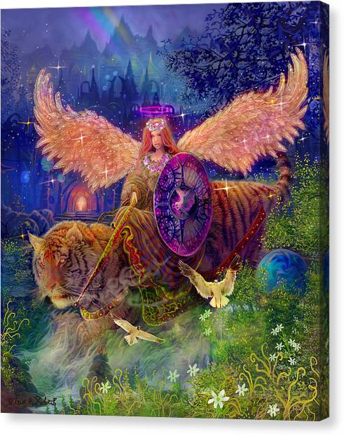 Angel Tarot Card Angel Fairy Dream Canvas Print