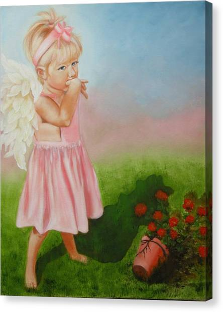 Angel Thumbs Canvas Print